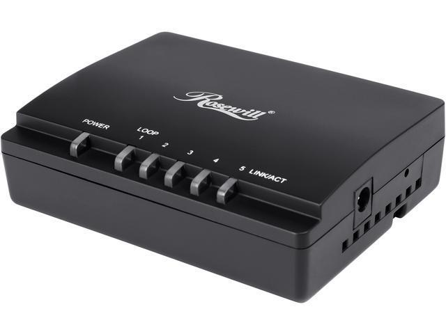 Rosewill RC-409LXv2 , 10/100/1000 Mbps 5-Port Gigabit Desktop Switch