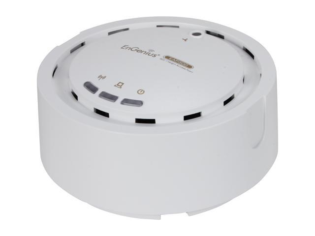 EnGenius EAP300 N300 Business Class Indoor High-power Long-range 800mW Wireless Access Point/WDS Bridge/WDS AP with Smoke Detector Housing & 802.3af PoE Support