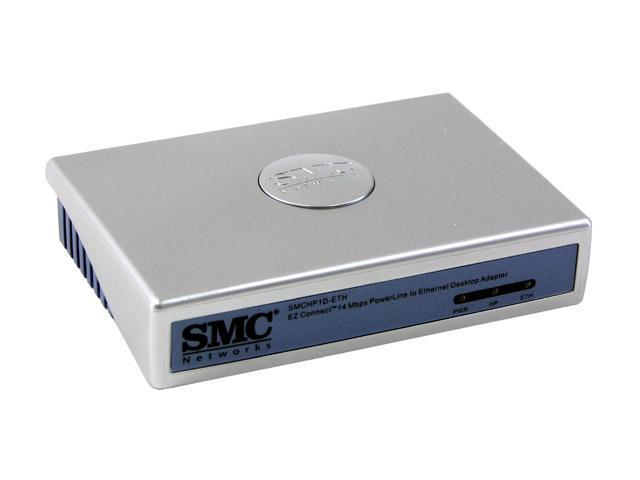 SMC LG-ERICSSON SMCHP1D-ETH EZ Connect 14 Mbps Powerline to Ethernet Desktop Adapter Up to 14Mbps