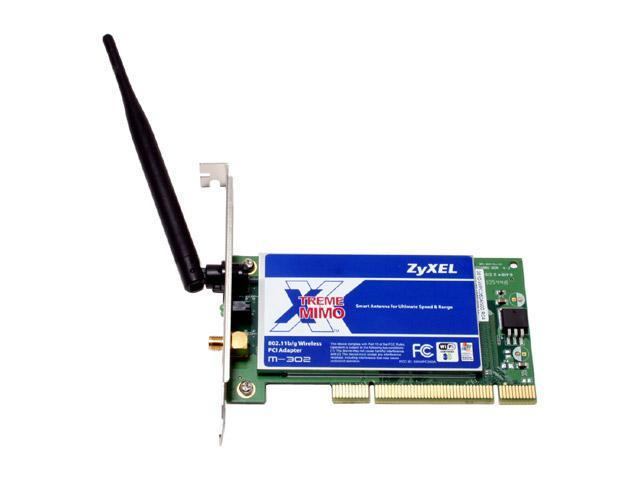 ZyXEL M-302 MIMO Wireless Card IEEE 802.11b/g PCI Up to 108Mbps Wireless Data Rates WPA