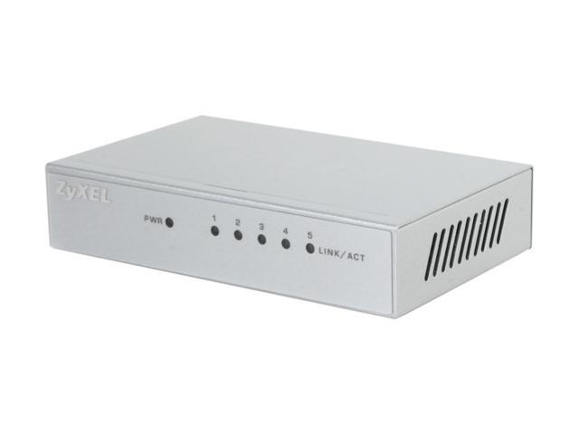ZyXEL GS105B Metal Case Easy and Reliable Network Expansion for SOHO