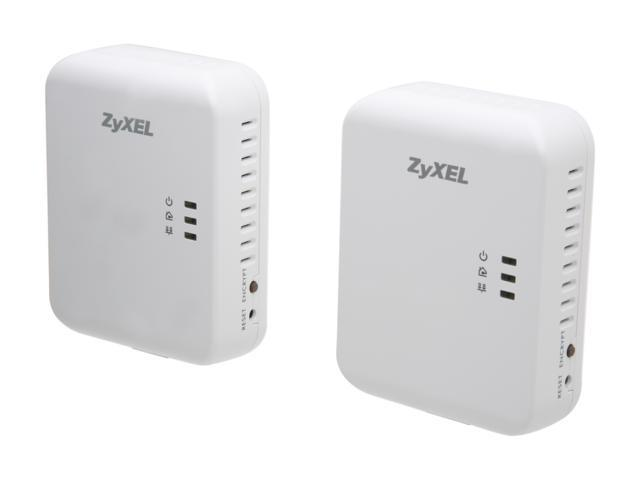 ZyXEL PLA4205KIT 500 Mbps Gigabit Powerline Wall-Plug Adapter Starter Kit