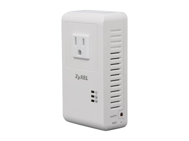 ZyXEL PLA4215 500Mbps Powerline Pass-Thru Gigabit Ethernet Adapter