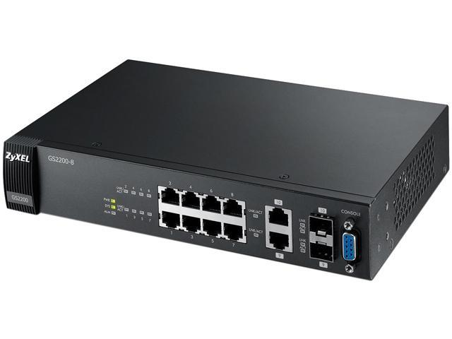 ZyXEL GS2200-8 10/100/1000Mbps 8-Port Layer 2 Gigabit Managed Switch