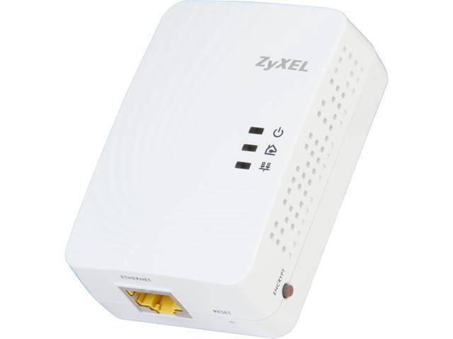 ZyXEL PLA5205 600Mbps Powerline Gigabit Ethernet Adapter Up to 600Mbps