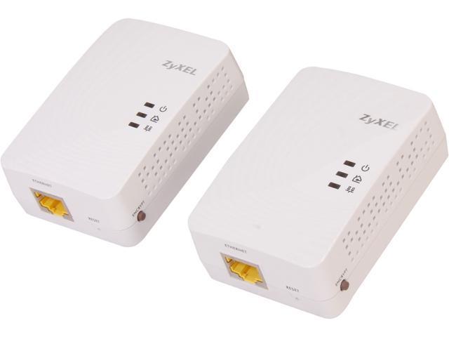 ZyXEL PLA5205KIT AV2 AV600 Powerline Gigabit Ethernet Adapter, Up to 600Mbps