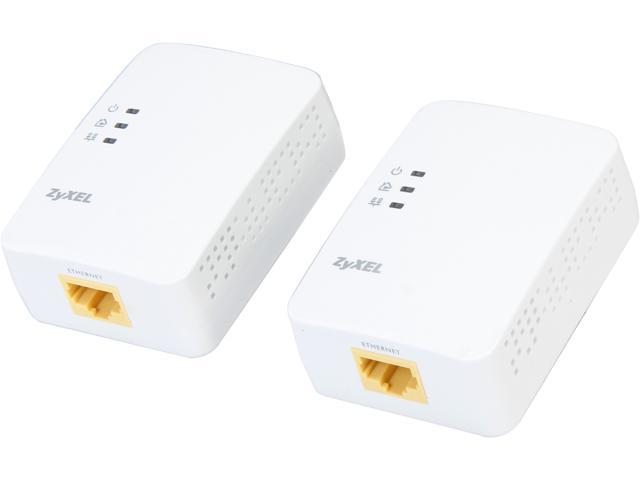 ZyXEL PLA4101KIT Twin Pack 200Mbps Mini Powerline Ethernet Adapter