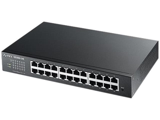 ZyXEL GS1900-24E 24-Port Desktp Fanless GbE L2 Smart Managed Switch