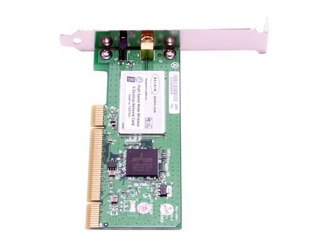BELKIN F5D7001 Wireless G Plus Network Card IEEE 802.11b/g PCI Up to 125Mbps Wireless Data Rates WPA