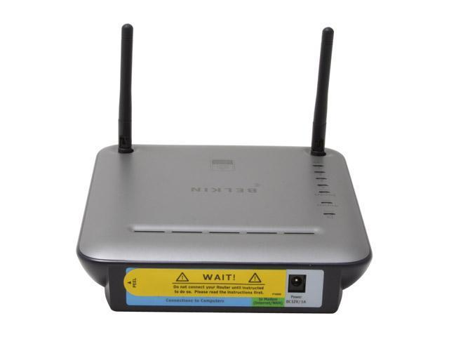 BELKIN F5D9230-4 Wireless G Plus MIMO Router IEEE 802.3/3u, IEEE 802.11b/g