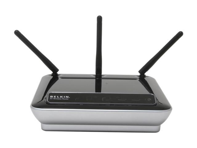 BELKIN F5D8231-4 N1 Wireless Router IEEE 802.11b, IEEE 802.11g, IEEE 802.11n (draft)