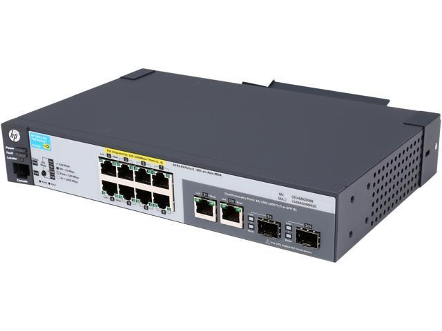 HP J9562A#ABA Managed ProCurve 2915-8G-PoE Ethernet Switch - 10 Port - 2 Slot