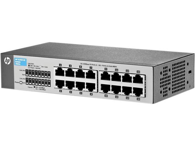 HP J9662A#ABA V1410-16 Fast Ethernet Switch