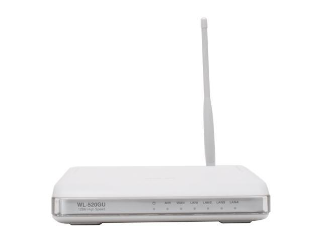 ASUS WL-520gU 802.11b/g Wireless Router up to 54Mbps with All-in-One Print Server/ DD-WRT Open Source support