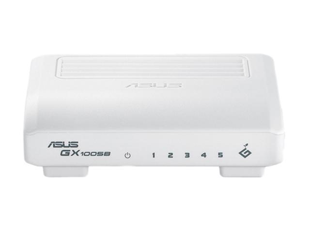 ASUS GX1005B V4 Unmanaged 5-Port Desktop Unmanaged Switch for Home/SOHO