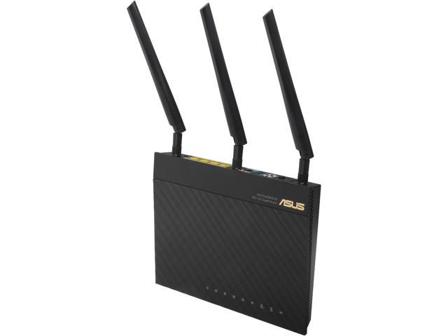 ASUS RT-AC66R Dual-Band Wireless-AC1750 Gigabit Router –Asus Certified.