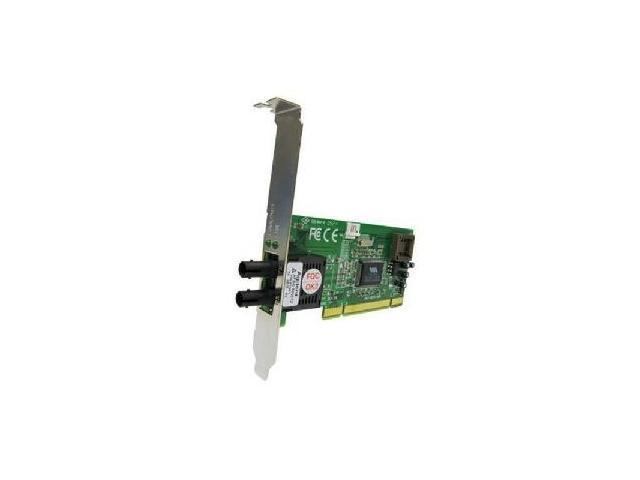 Transition Networks N-FX-ST-02L 10/ 100Mbps PCI 100BASE-FX Network Interface Card - Low-profile
