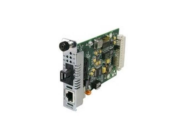 TRANSITION CFETF1011-205 Fast Ethernet Point System Slide-In-Module Media Converter