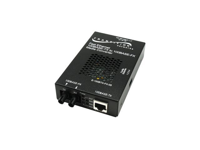 TRANSITION E-100BTX-FX-05(SM)NA Fast Ethernet 100BASE-TX to 100BASE-FX Stand-Alone Media Converters