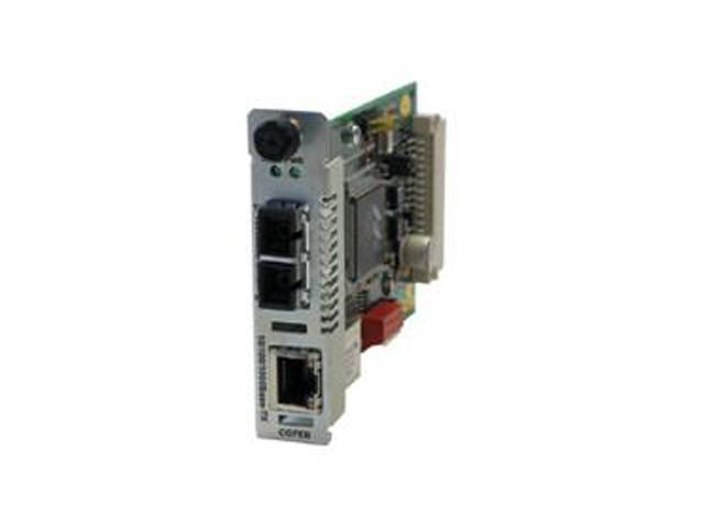 Transition Networks CGFEB1040-120 10/ 100/ 1000Mbps Point System Slide-in-Module Media Converter