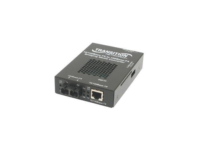 TRANSITION SBFTF1011-105-NA 10/100 Bridging 10/100Base-TX to 100Base-FX Media Converter
