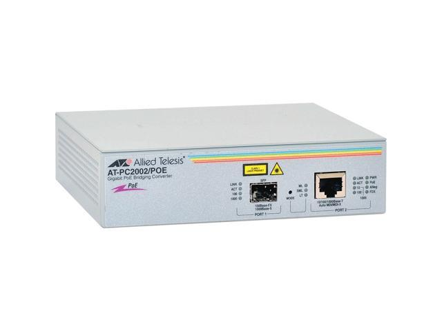 Allied Telesis AT-PC2002/POE-10 Gigabit Ethernet Media Converter
