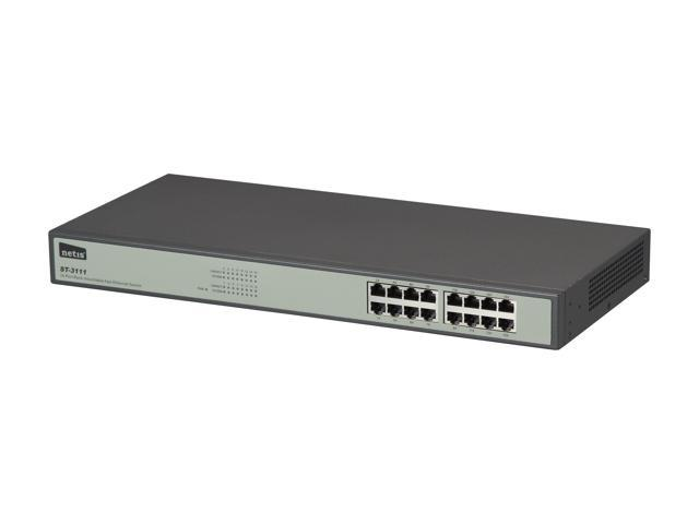 NETIS ST3116(ST-3111) Unmanaged 16 Port Fast Ethernet Rackmount Switch
