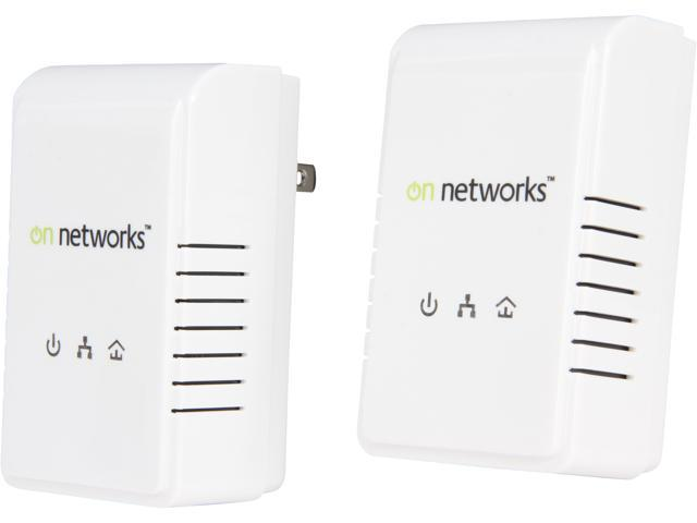 On Networks PL200-199NAS Two Powerline 200 Home Network Adapters