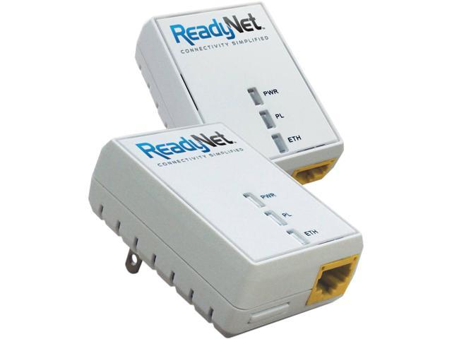 ReadyNet EN200K Powerline Network Adapter Kit Up to 190Mbps