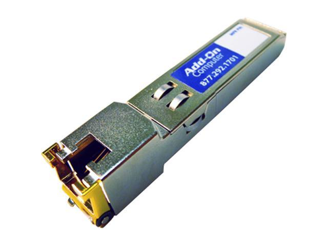 AddOn Cisco GLC-T Compatible 1000 Base-TX SFP Transceiver (Copper, 100m, RJ-45)