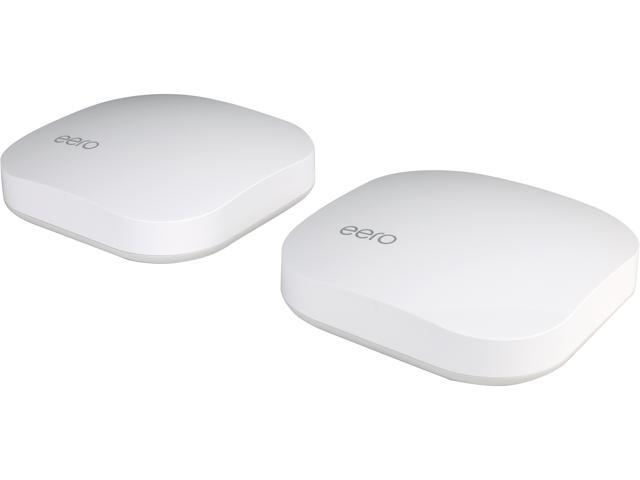 eero Home WiFi System (2-pack) - Complete WiFi Range Extender and Wireless Router Replacement System, Gigabit Speed, WPA2 Encryption