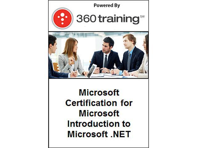 Microsoft Certification for Microsoft Introduction to Microsoft .NET – Self Paced Online Course