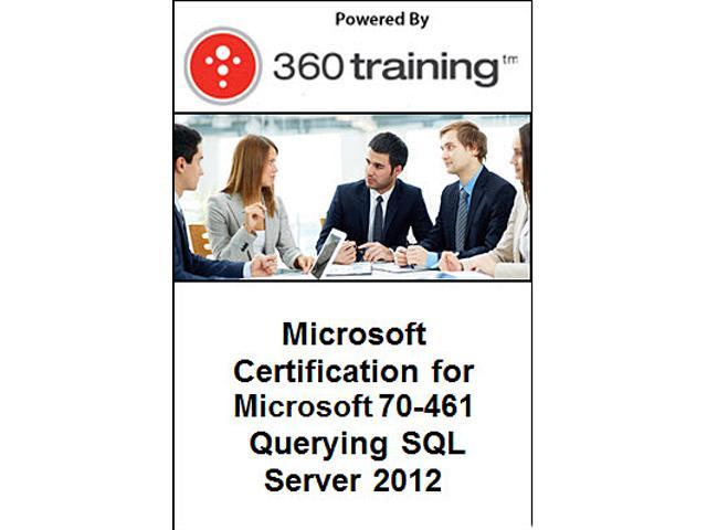 Microsoft Certification for Microsoft 70-461: Querying SQL Server 2012 - Self Paced Online Course