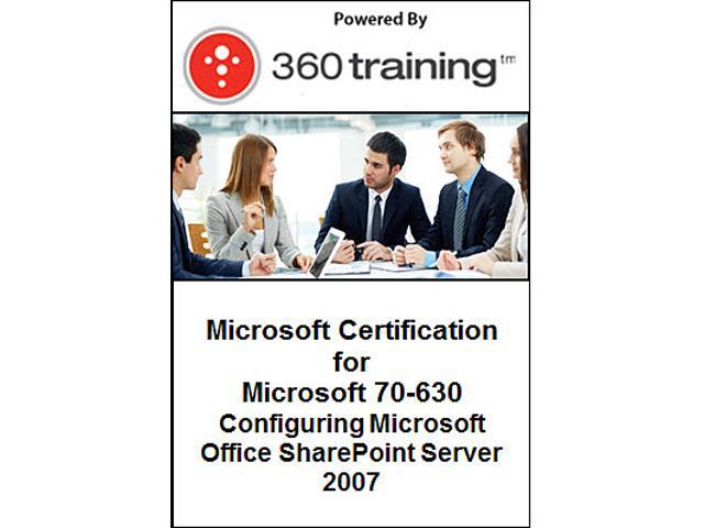 Microsoft Certification for Microsoft 70-630: Configuring Microsoft Office SharePoint Server 2007 - Self Paced Online Course