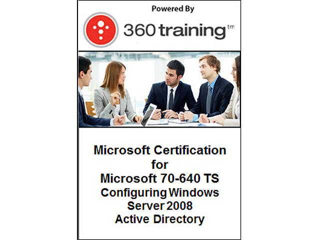 Microsoft Certification for Microsoft 70-640 TS: Configuring Windows Server 2008 Active Directory - Self Paced Online Course