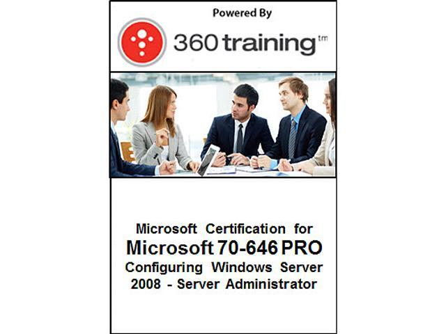Microsoft Certification for Microsoft 70-646 PRO: Configuring Windows Server 2008 – Server Administrator - Self Paced Online Course