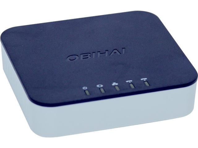 Obihai OBI302 VoIP Telephone Adapter with 2-Phone Ports, Router & USB