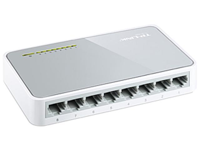 TP-LINK TL-SF1008D 10/100Mbps 8-Port Unmanaged Desktop Switch, Power-saving
