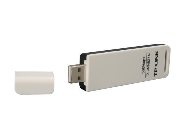 TP-LINK TL-WN821N Wireless N300 USB Adapter, 300 Mbps, w/ WPS Button IEEE 802.1b/g/n, WEP / WPA / WPA2, Plug & Play in Windows 10 (32 bit & 64 bit)