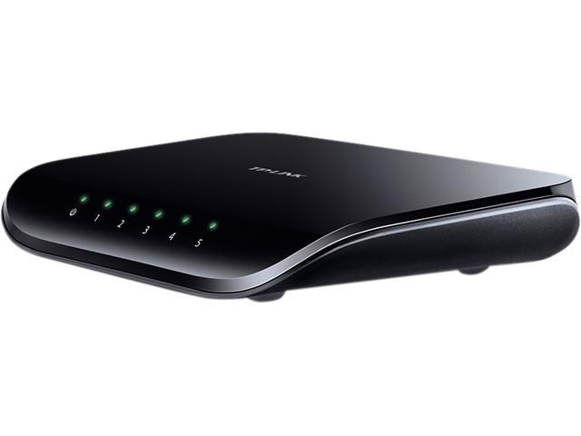 TP-LINK TL-SG1005D 10/100/1000Mbps Unmanaged 5-Port Gigabit Desktop Switch, Power-Saving