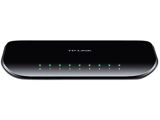 TP-LINK TL-SG1008D 10/100/1000Mbps Unmanaged 8-Port Gigabit Desktop Switch, Power-Saving