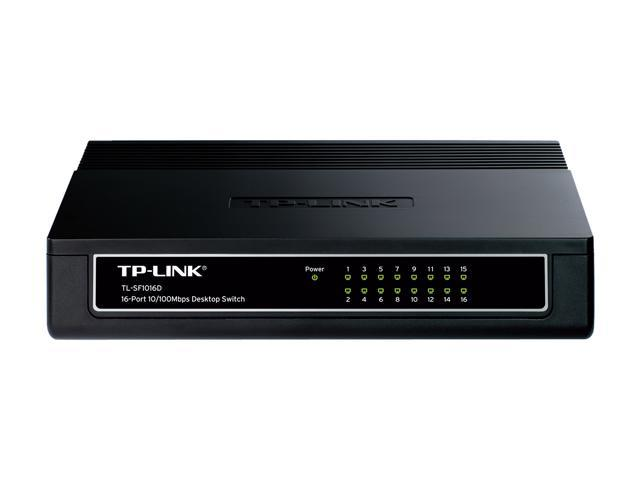 TP-Link TL-SF1016D Unmanaged 16-Port Desktop Switch