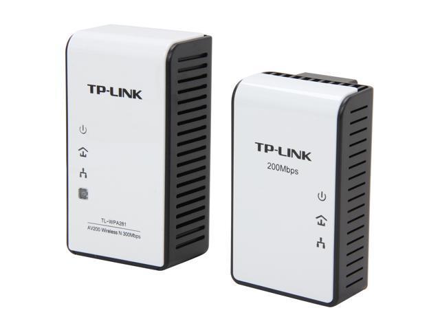 TP-LINK TL-WPA281KIT AV200 Wireless N Powerline Extender Starter Kit