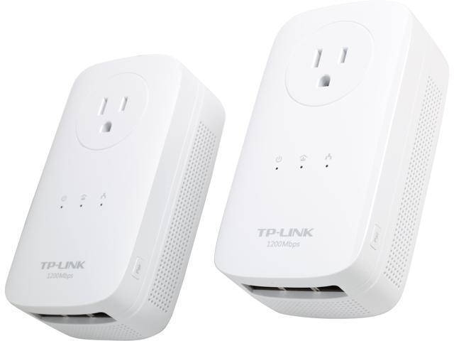 TP-Link TL-PA8030P KIT AV1200 3-Port Gigabit Passthrough Powerline Starter Kit Up to 1.2Gbps