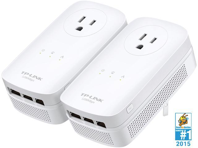 TP-LINK TL-PA8030P KIT AV1200 3-Port Gigabit Passthrough Powerline Starter Kit Up to 1.2Gbps