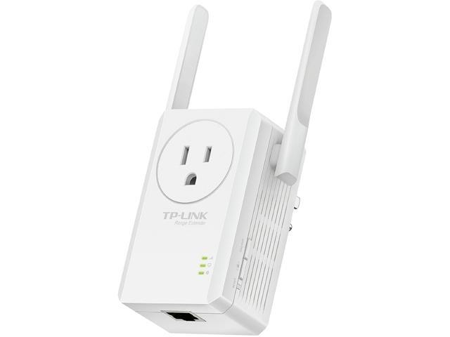 TP-LINK TL-WA860RE-E 300 Mbps Universal Wi-Fi Range Extender / Repeater with Power Outlet Pass-through, Dual External Antennas, One-button Setup, Smart Signal Indicator (Easy-open package)