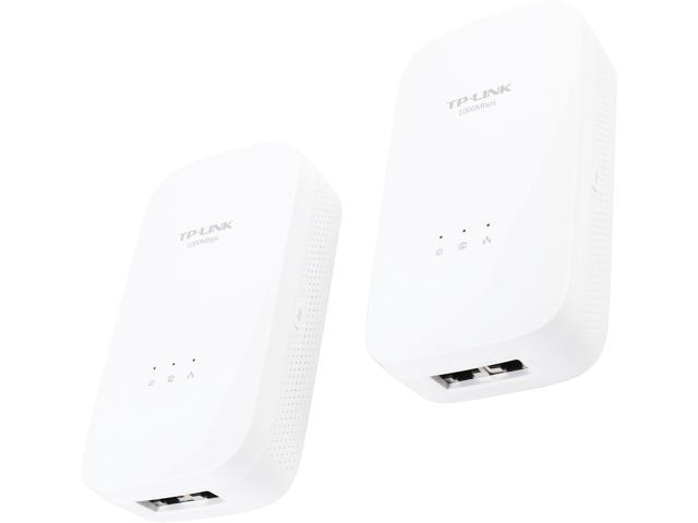 TP-LINK TL-PA7020 KIT HomePlug AV2 MIMO AV1000 2 –Port Gigabit Powerline Starter Kit, up to 1000 Mbps