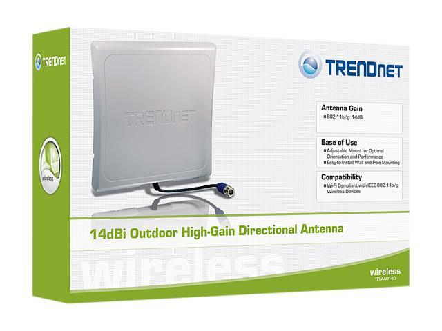 TRENDnet TEW-AO14D 14 dBi Outdoor High-Gain Directional Antenna