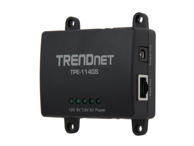 TRENDnet TPE-114GS Gigabit Power over Ethernet (PoE) Splitter