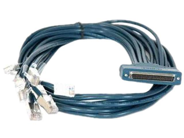 CISCO CAB-OCTAL-ASYNC= 8 Lead Octal Cable 68pin To 8 Male RJ45s